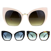 Womens Oversize Cat Eye Butterfly Gradient Lens Plastic Sunglasses - $12.95