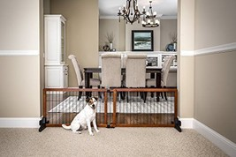 Carlson 68-Inch Wide Adjustable Freestanding Pet Gate Premium Wood Fence... - $83.96
