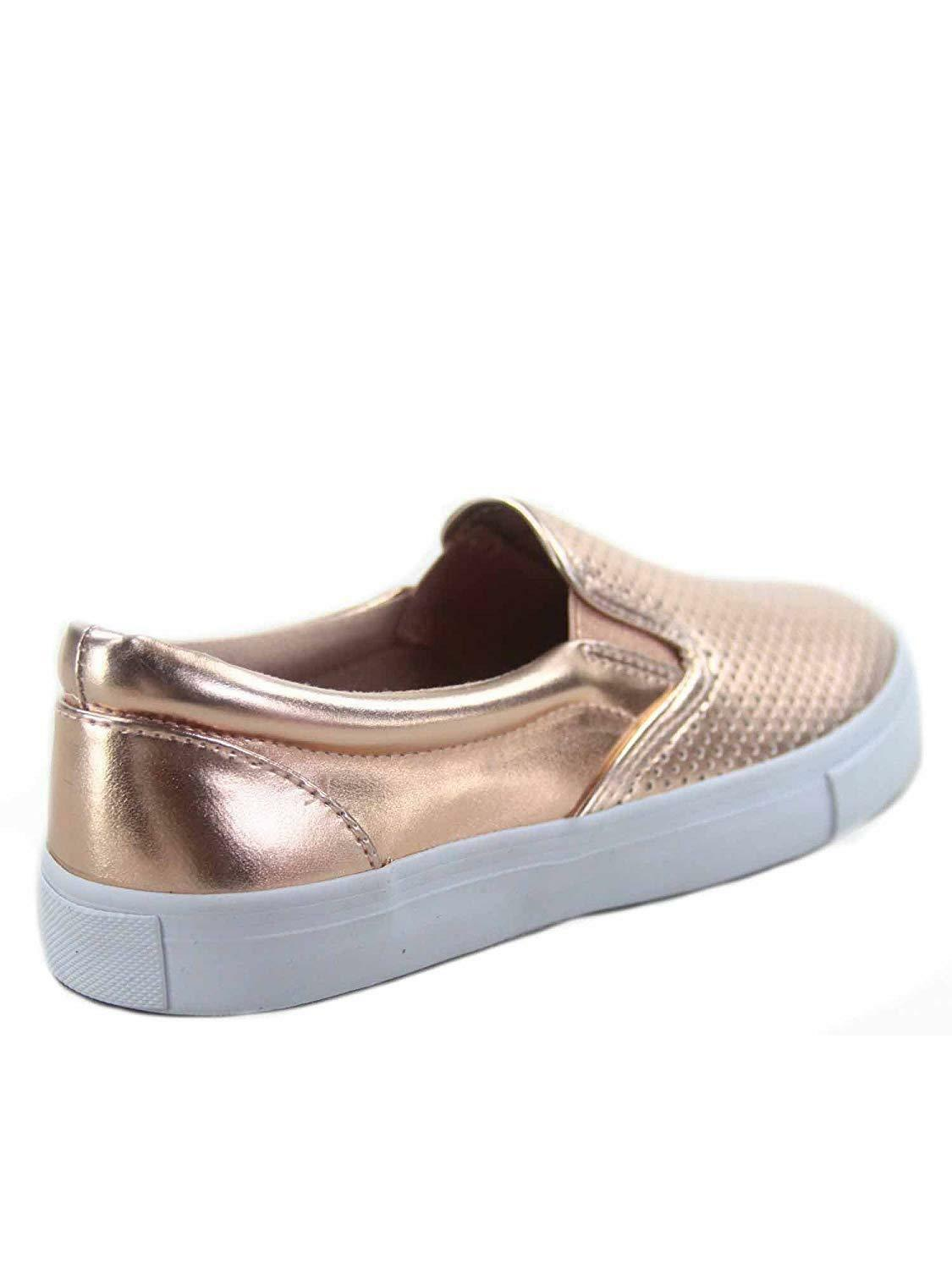 Soda Tracer-S Women's Cute Perforated Slip On Flat Round Toe Sneaker Shoes image 6