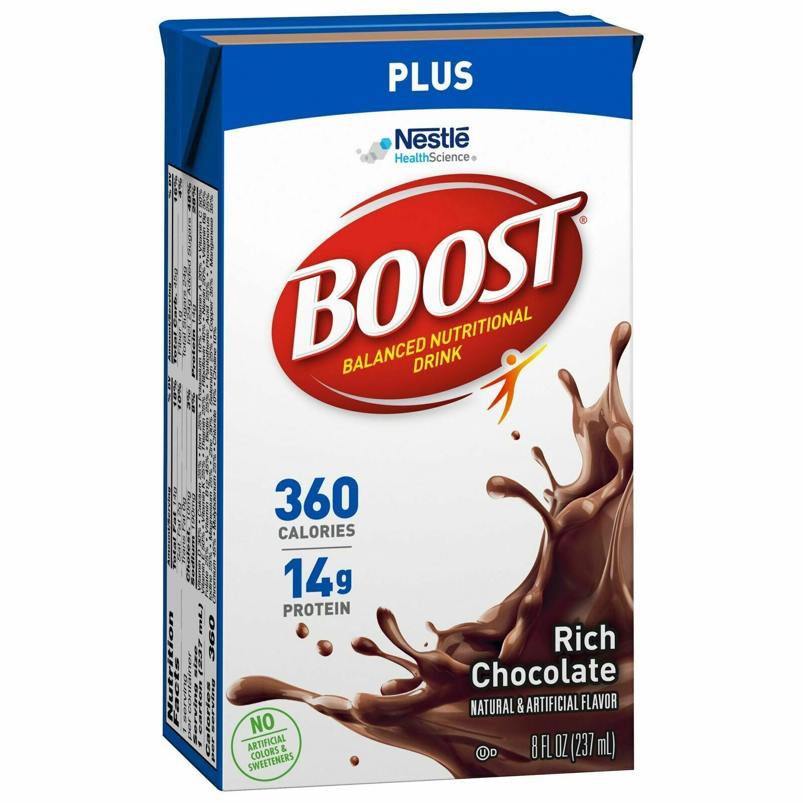 Nestle Boost Plus Oral Supplement, Rich Chocolate, 8 oz Carton, 27 Ct - $69.05