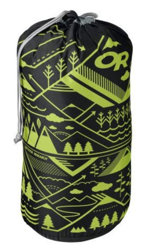 Outdoor Research 10L-Liter Dry Sack Camping Hiking - Graphic Hydrologic/Black