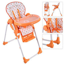 Adjustable Baby High Chair Infant Toddler Feeding Booster Seat Folding O... - $63.90