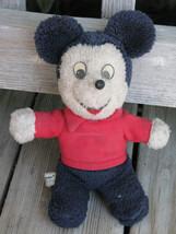 "Knickerbocker ~ Vintage Disney Mickey Mouse 10"" Plush Stuffed Toy ~ Ships Free - $19.99"