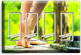 Bare Feet Soles Sexy Legs Light Switch 4 Gang Gfi Plate Bathroom Room Home Decor - $19.79
