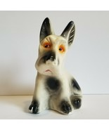 Vintage 1950s Chalkware Scottie Terrier Dog Carnival Figurine - $25.20