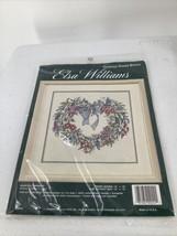 ELSA WILLIAMS COUNTED CROSS-STITCH HEARTFELT WREATH Kit Michael LeClair ... - $12.19