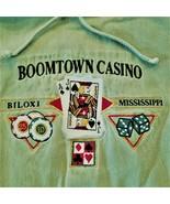 "Boomtown Casino Lightweight ""Poker"" Hoodie w/Drawstrings - Olive Green XL - $14.20"