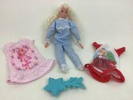 Bedtime Barbie Doll Mattel Pajamas Lot Soft Figure #13 Vintage 1975 - $15.99
