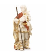Lenox First Blessing Nativity Shepherd Boy With Lamb Figurine Staff NEW - $165.33