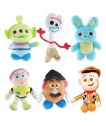 NEW Disney Pixar Toy Story 4 Plush Forky Woody Bunny Alien Buzz Lightyea... - $16.88