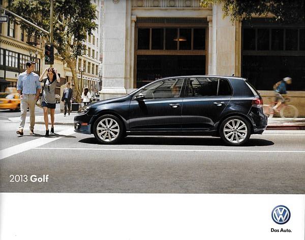 2013 Volkswagen GOLF sales brochure catalog US 13 VW Rabbit 2.5L TDI