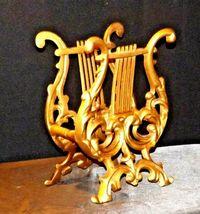 Musical Harp Magazine Holder or for Music AA19-1590 Vintage Metal image 6