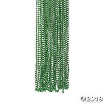Green Metallic Bead Necklaces - Mardi Gras & St. Patricks Beads - $12.49