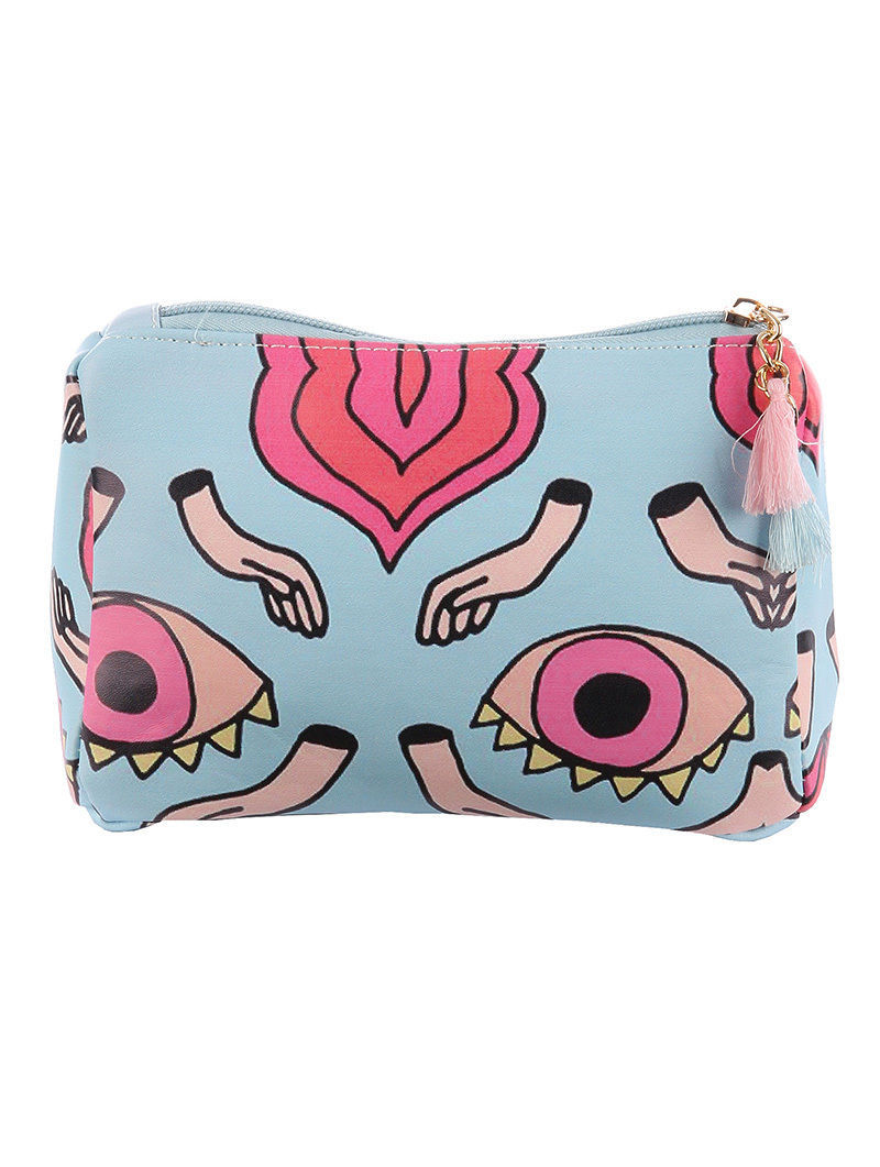 Eyes Hands Print Cosmetic Makeup Bag or Pouch Clutch Wallet