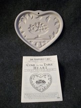 Pampered Chef Come To The Table Heart Clay Cookie Mold - $4.49