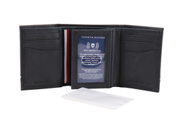 Tommy Hilfiger Men's Leather RFID Extra Capacity Trifold Wallet 31TL110044 image 9