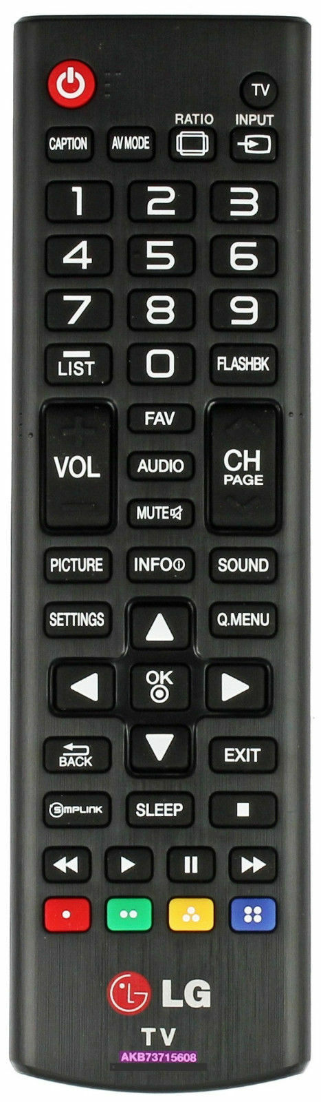 Primary image for LG AKB73715608 Remote Control TV 32LN5300 39LN5300 42LN5300 55LN5200 50LN5200
