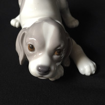 VINTAGE RETIRED LLADRO PORCELAIN POUNCING BEAGLE PUPPY DOG FIGURINE #1070  - $148.50