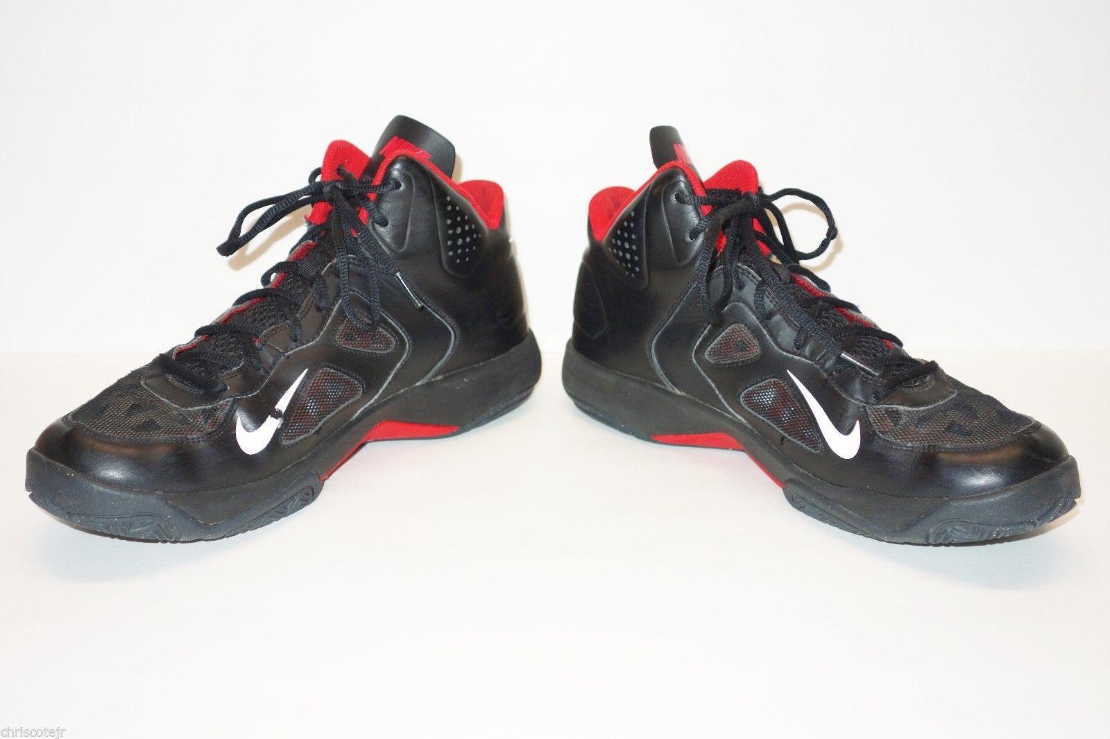 Nike Dual Fusion Black Red Basketball Sneakers Shoes Men's 11 Bulls Heat