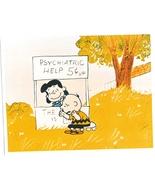 Peanuts Psychiatric Help Charlie Brown Vintage 5X7 Color TV Memorabilia ... - $3.95