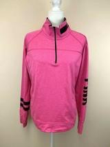 Victoria's Secret Pink L Quarter Zip Pullover Athletic Top Shirt Thumb H... - $16.99
