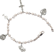 Rosary Bracelet - Silver Plated