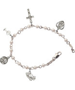 Rosary Bracelet - Silver Plated - $34.98