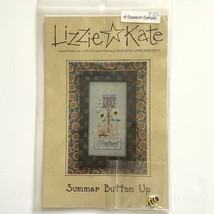 Lizzie Kate Summer Button Up #069 Cross Stitch Pattern Bee Hive Bird House Sun - $8.91