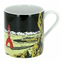 Tintin lunar Moon rocket porcelain mug in gift box Tintin