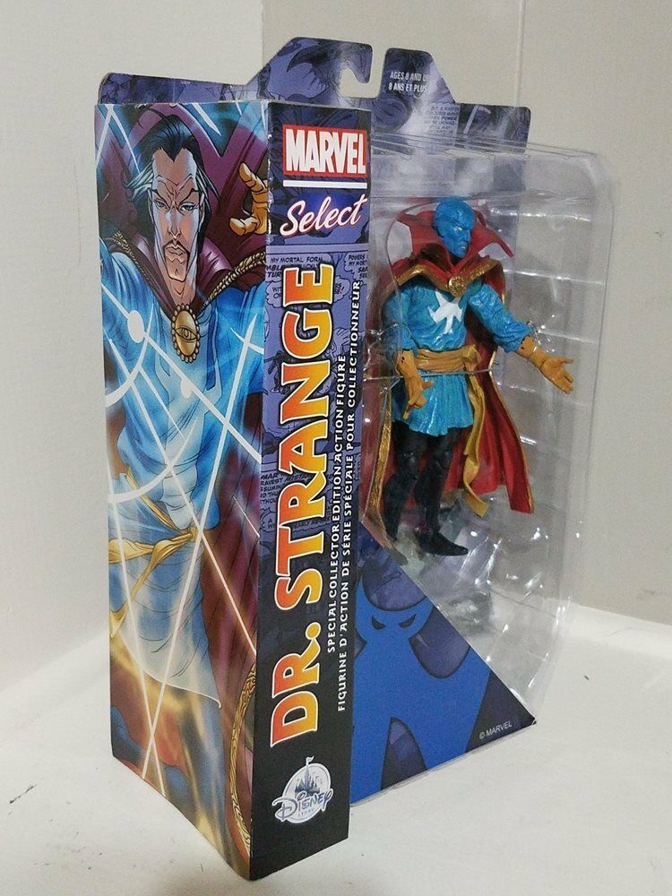 "Disney Store Marvel Select Dr Strange 7"" Action Figure Sealed Collector Edition"