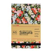 Travelogue Watercolor Journal Sakura Theme, 210gsm (95lb) Cotton Paper 4... - $14.99