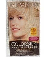 Revlon Colorsilk 03 ULTRA LIGHT SUN BLONDE Permanent Beautiful Color Hai... - $14.84