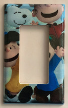 Peanuts Snoopy Charlie Brown Lucy Light Switch Outlet wall Cover Plate decor image 3