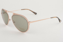 Tom Ford Dashel Rose Gold / Green Sunglasses TF508 28N - $175.42