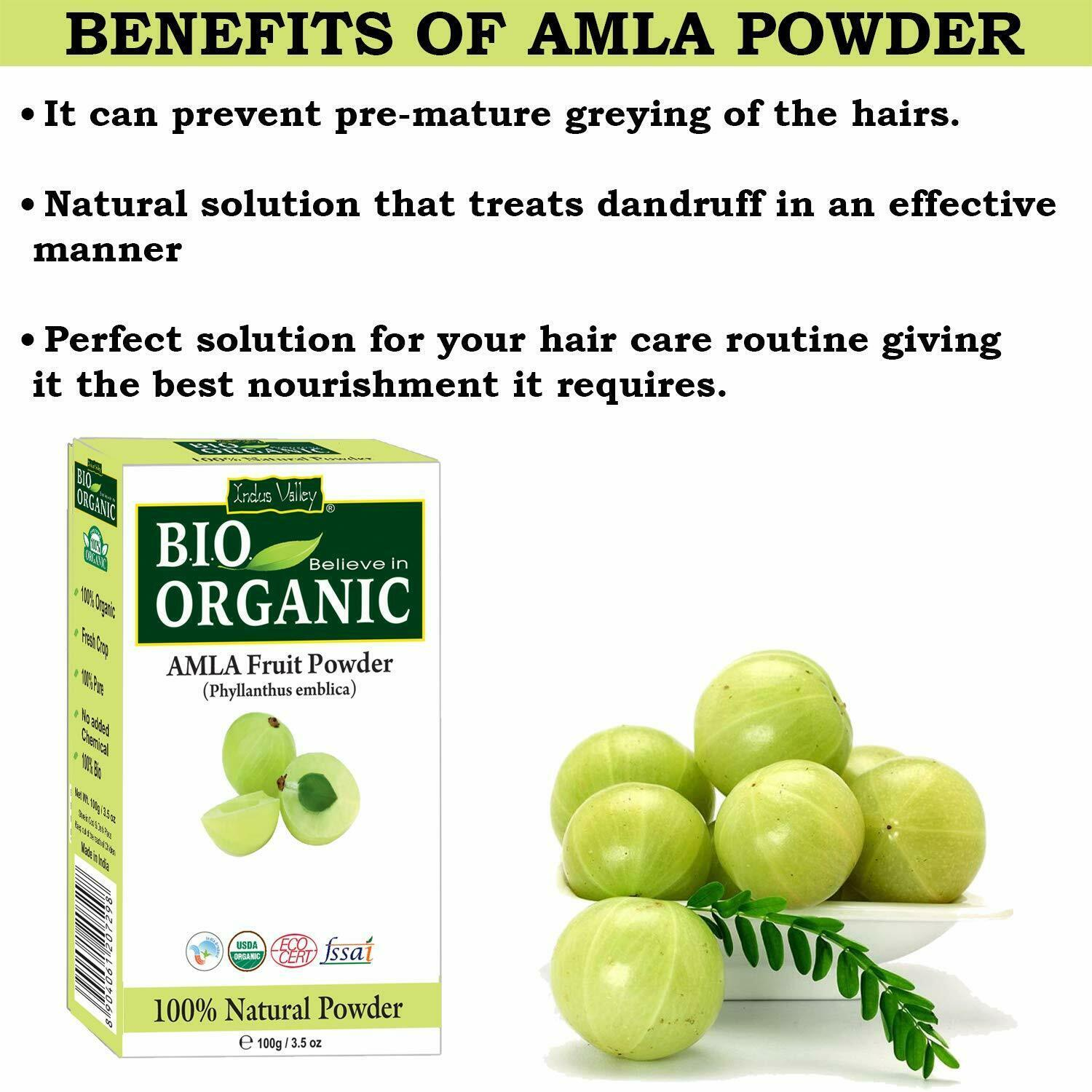 Organic Amla Indian Gooseberry Powder 100 Grams -Effective Solution For Anti-Age image 2
