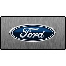 ford oval logo 3d look flat auto car license plate made in usa - $27.07