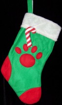 Christmas Stocking Pet Dog Puppy Pup Kitten Kitty Cat Paws Appliqued   *... - $9.74