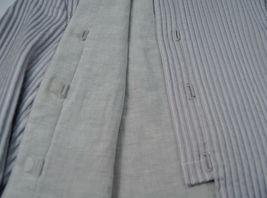 Giorgio Armani Black Label Raise Stripe Silver Grey Jacket Womens 38 Italy image 11