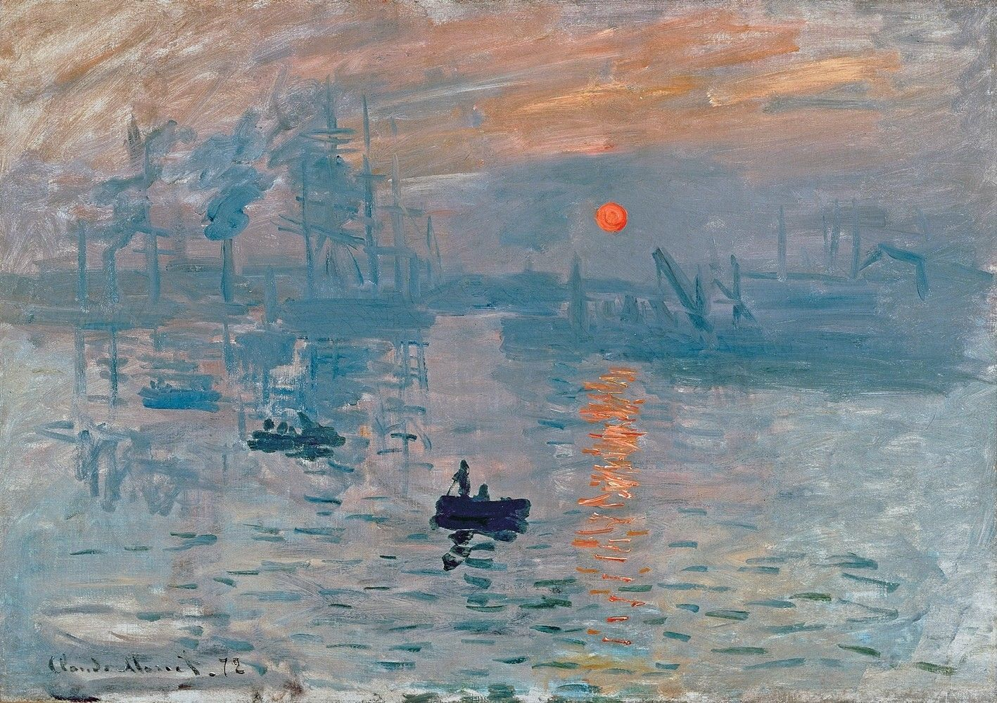 Impression Sunrise Painting by Claude Monet Art Reproduction