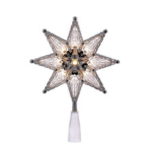 "Kurt Adler 8"" Clear 8 Point Star 10-LIGHT Treetop Tree Topper Xmas Decoration - $14.88"