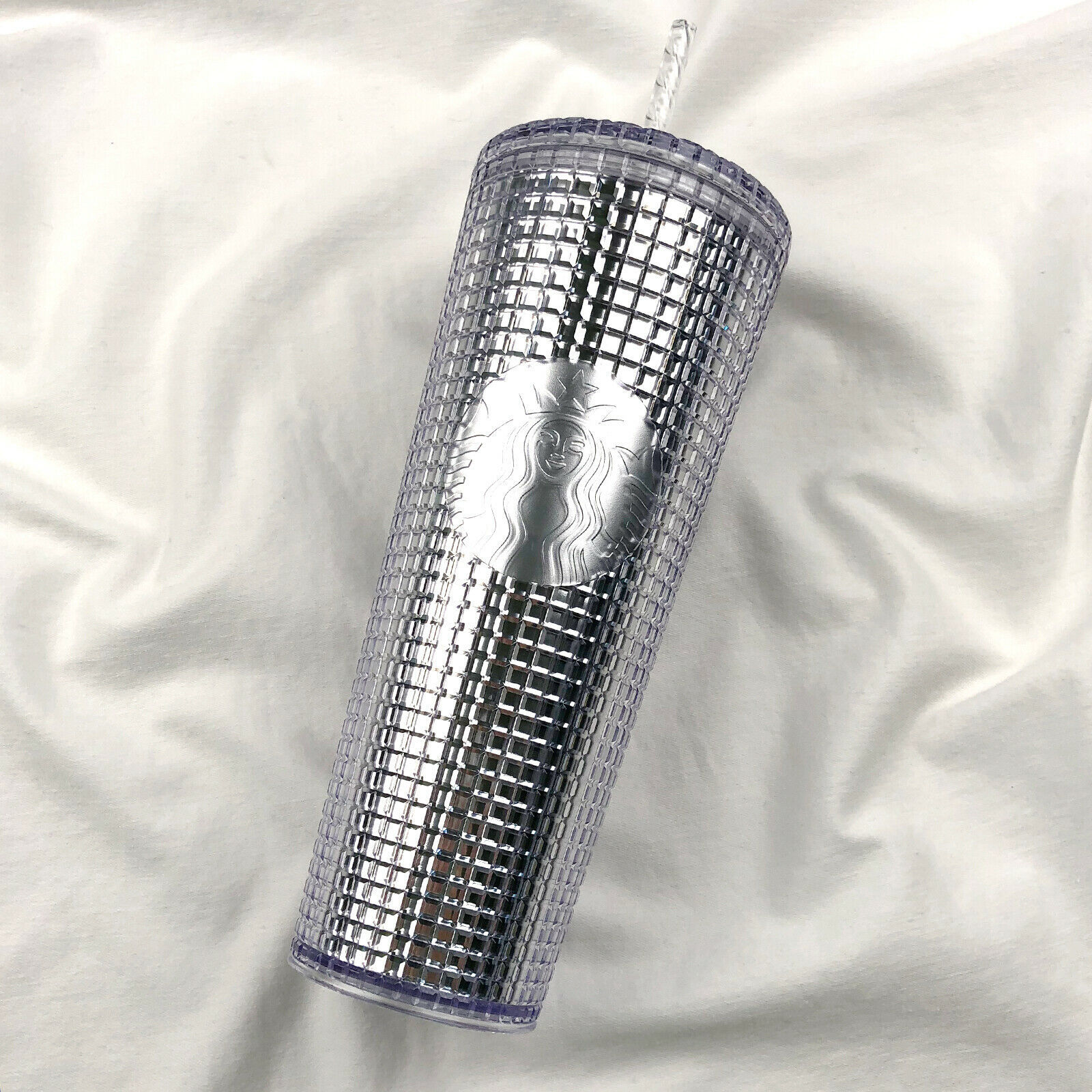 Primary image for Starbucks 2020 Holiday Studded Grid Tumbler Silver