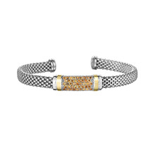 Phillip Gavriel Sterling Silver Citrine Bar Design Cuff Bracelet - $339.99