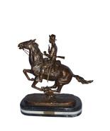 "Trooper of the plains Bronze replica by Remington - Size: 20""L x 8""W x 2... - $960.00"