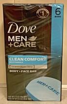 Dove Men + Care Body and Face Bar Soap Clean Comfort Mild Formula 6 Bars Total - $22.95