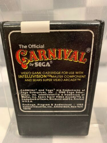 CARNIVAL by Sega For Intellivision Video Game Cartridge