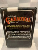 CARNIVAL by Sega For Intellivision Video Game Cartridge  - $1.97