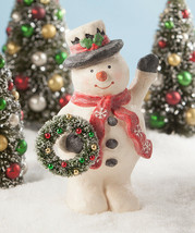 """NEW 2019 Bethany Lowe Designs Christmas """"Jolly Greeting Snowman"""" TL8737 - $56.99"""