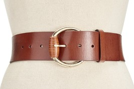 MICHAEL KORS 55mm Veg Leather Panel Belt Wrapped Buckle Luggage Small $78 - NWT - $37.53