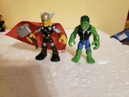 Playskool Marvel Heroes Hero Squad Hulk Thor Figures - $17.99