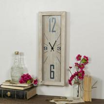 Rustic Elongated Clock Long Slim FARMHOUSE Wall Clock Large Numbers Wood... - $69.00